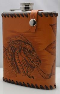 Фляга походная Огнедыщащий дракон.