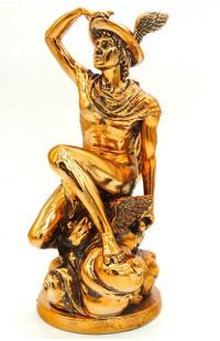 Фигурка декоративная Гермес (покровитель торговли) высота 25 см.