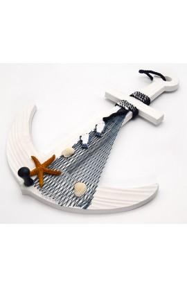 Декоративная вешалка Якорь с сетью высота 42 см