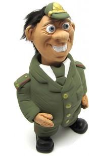 Фигурка релаксатор обожженая глина ручная работа серия Персонажи Военный.