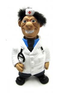 Фигурка релаксатор обожженая глина ручная работа серия Персонажи Доктор.