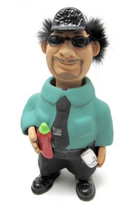 Фигурка релаксатор обожженая глина ручная работа серия Персонажи Крутой перец.