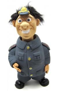 Фигурка релаксатор обожженая глина ручная работа серия Персонажи Полицейский.
