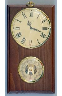 Метеостанция барометр в деревянном корпусе немецкий механизм.