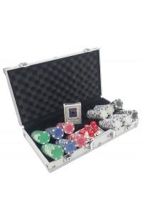 Набор для игры в покер с профессиональными фишками Профессионал 300.