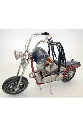 Модель декоративная металлическая ручной работы Мотоцикл.