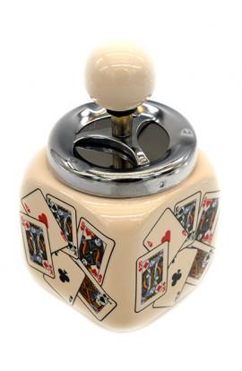 Пепельница оригинальная с элементом открывания  Колода куб 15см.
