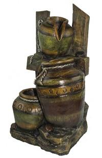 Декоративный фонтан КУВШИНЫ, высота 60см