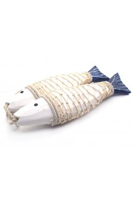 Декоративная композиция Две плененных рыбы высота 27 см