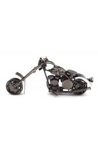 Композиция из металла Мотоцикл 15см.