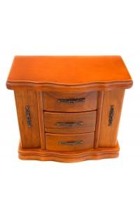 Шкатулка деревянная для украшений с дверцами и ящичками.