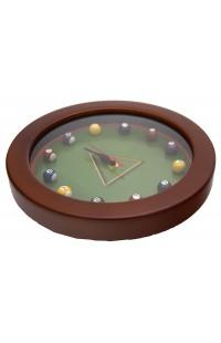 Часы настенные в деревянном корпусе Бильярд 24см оригинальный контент.