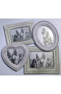 Фоторамка настенная со стеклом ретро стиль Дружная семья.