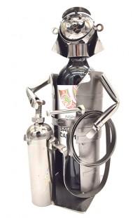 Держатель для винной бутылки из металла немецкий дизайн МЧС : Предотвращение, Спасение, Помощь.