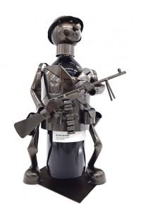 Держатель для винной бутылки из металла немецкий дизайн Вежливый человек.