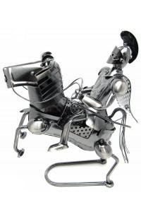 Композиция декоративная из металла немецкий дизайн Всадник.