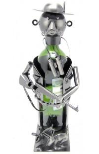 Держатель для винной бутылки из металла немецкий дизайн Охотник.