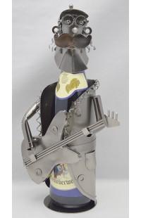 Держатель для винной бутылки из металла немецкий дизайн Гитарист.