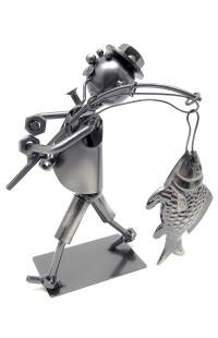 Композиция декоративная из металла немецкий дизайн Рыбак.