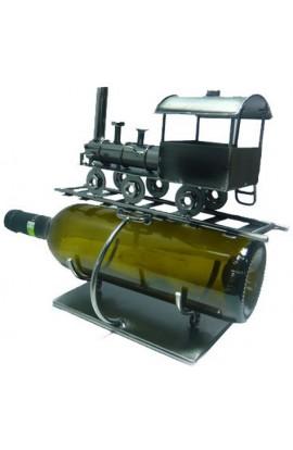Держатель для винной бутылки из металла немецкий дизайн Паровозик.
