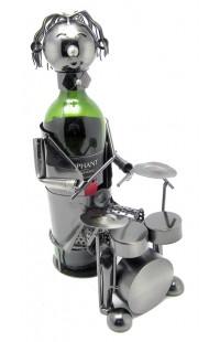 Держатель для винной бутылки из металла немецкий дизайн Барабанщик.