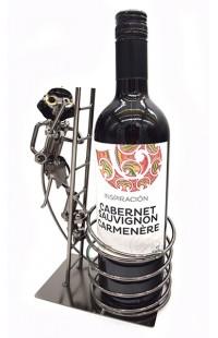 Держатель для винной бутылки из металла немецкий дизайн МЧС на задании.