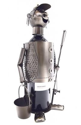 Держатель для винной бутылки из металла немецкий дизайн Рыбак.