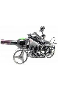 Держатель для винной бутылки из металла немецкий дизайн Байкер.