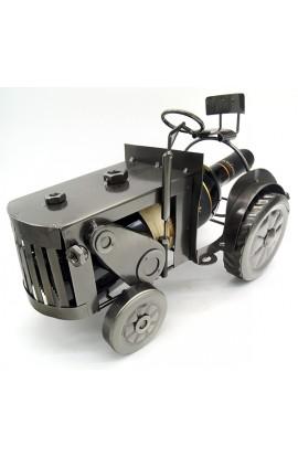 Подставка для бутылки металлическая Трактор колесный.
