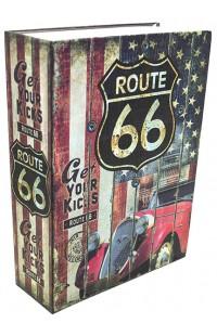 Книжка-сейф ROUTE 66 / ШОССЕ 66, высота 18см