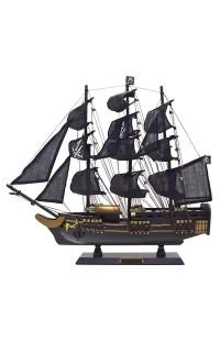 Декоративный пиратский парусник Черная жемчужина высота 43 см