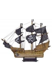 Декоративный пиратский парусник Черная жемчужина высота 59 см