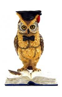Статуэтка декоративная Ученая сова малая.