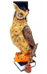 Статуэтка декоративная Ученая сова большая.