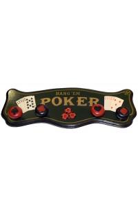 Вешалка настенная ретро стиль Покер с 4 держателями.
