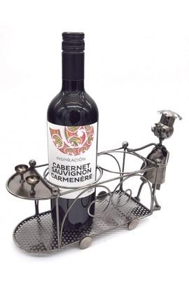 Держатель для винной бутылки из металла немецкий дизайн на две бутылки Кушать подано.