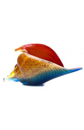 Стеклянная фигурка Ракушка карибская 15 см