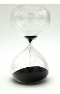 Часы песочные в виде стеклянной колбы интервал 10 минут высота 14 см.