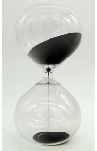 Часы песочные в виде стеклянной колбы интервал 30 минут высота 23 см.