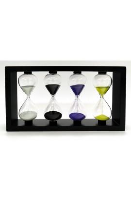 Часы песочные деревянные мультиинтервальные 1-3-5-7 минут высота 15 см.