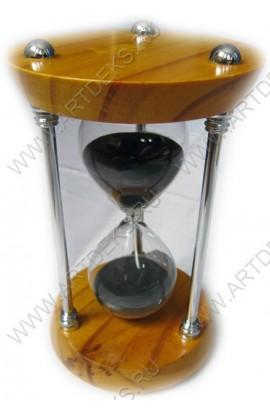 Часы песочные деревянные 15 минут высота 18 см.
