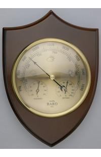 Метеостанция деревянная с барометром гигрометром и термометром Щит высота 22 см.